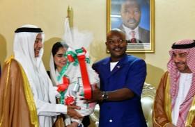 الرئيس البوروندي يستقبل وفدا من هيئة آل مكتوم الخيرية