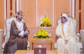 حاكم عجمان يستقبل السفير العماني
