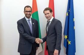 مستشار النمسا يبحث سبل تعزيز التعاون الثنائي مع الإمارات