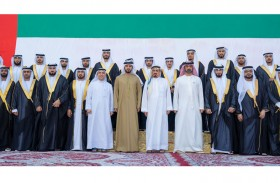 حاكم عجمان وولي عهده يحضران العرس الجماعي لـ 30 من شباب الوطن