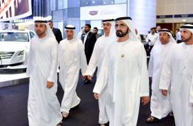 محمد بن راشد يزور معرض دبي الدولي للسيارات