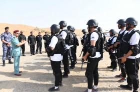 قائد عام شرطة رأس الخيمة يشهد تمارين دورة المستجيب الأول