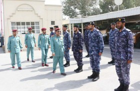 قائد عام شرطة رأس الخيمة يتفقد الدارة الحدودي وميناء صقر