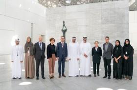 خالد بن محمد بن زايد يزور معرض فن الفروسية بين الشرق والغرب