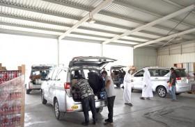 مركز النقل المتكامل  في أبوظبي يوظف مركبات الأجرة لتوصيل السلع من منافذ البيع للمتعاملين