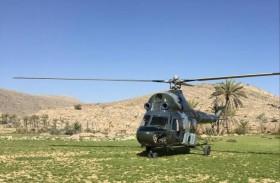 جناح الجو بشرطة رأس الخيمة ينقذ 3 مواطنين