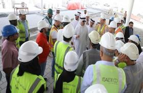 سعيد محمد الطاير يطّلع على تقدم الأعمال في مشروع  «مركز الابتكار» ضمن مجمع محمد بن راشد آل مكتوم للطاقة الشمسية