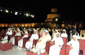 سعيد بن طحنون يشهد فعالياتذاكرة الأغنية الإماراتية بقلعة الجاهلي