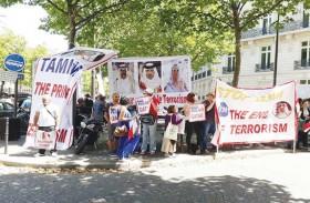 وقفات احتجاجية في باريس رفضا لزيارة تميم