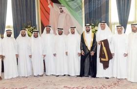 سلطان بن حمدان بن زايد يحضر أفراح المنصوري والمزروعي