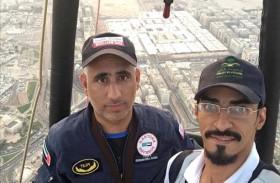 «منطاد الإمارات» يحلق بمنطاد خادم الحرمين الشريفين في المدينة المنورة