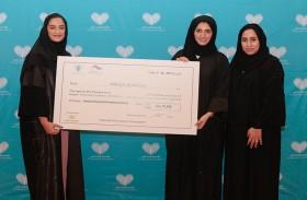 """""""سجايا فتيات الشارقة"""" تدعم «القلب الكبير» بأكثر من 77 ألف درهم"""