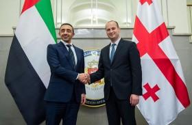 عبدالله بن زايد يلتقي وزير خارجية جورجيا