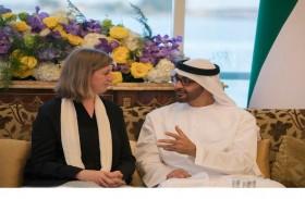 محمد بن زايد يبحث مع باربرة علاقات التعاون وأهمية بناء الشراكات وتبادل الخبرات