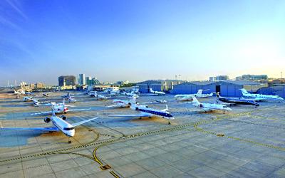 حركة الطائرات بمطار البطين للطيران الخاص ترتفع بنسبة 11 % في 2012