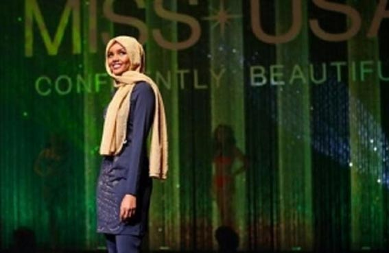 محجبة تتتأهل لمسابقة ملكة جمال أمريكا