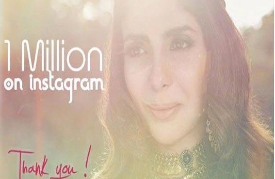 منى زكي تحتفل بـمليون متابع على انستغرام
