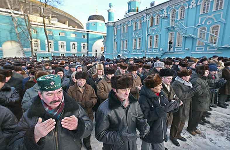 مساجد متنقلة في حدائق موسكو