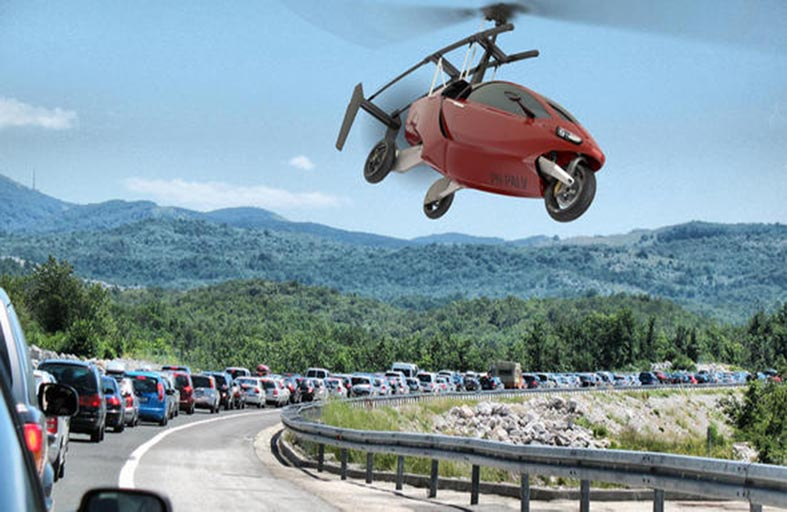 سيارات طائرة لتخفيف الإزدحام المروري